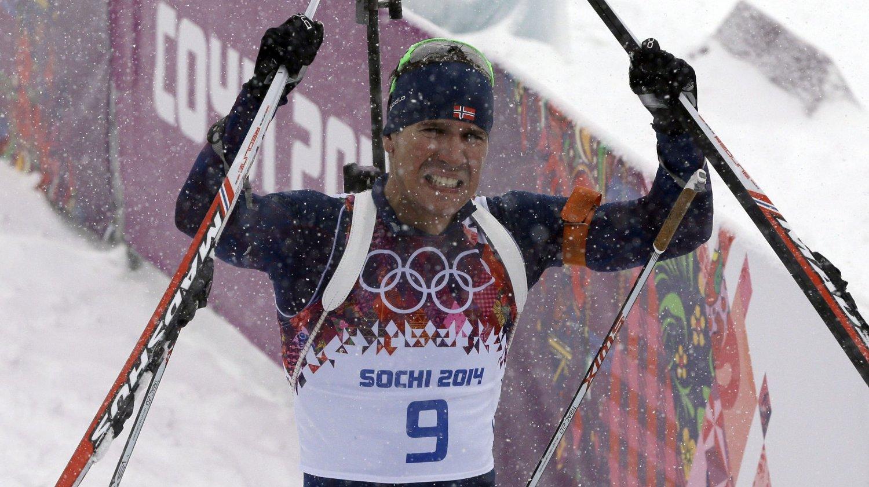 GRÅT: Emil Hegle Svendsen tok til tårene etter OL-gullet.