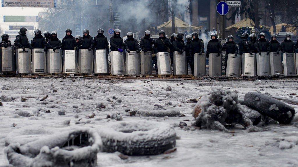 Det har roet seg i Kiev etter gatekampene.