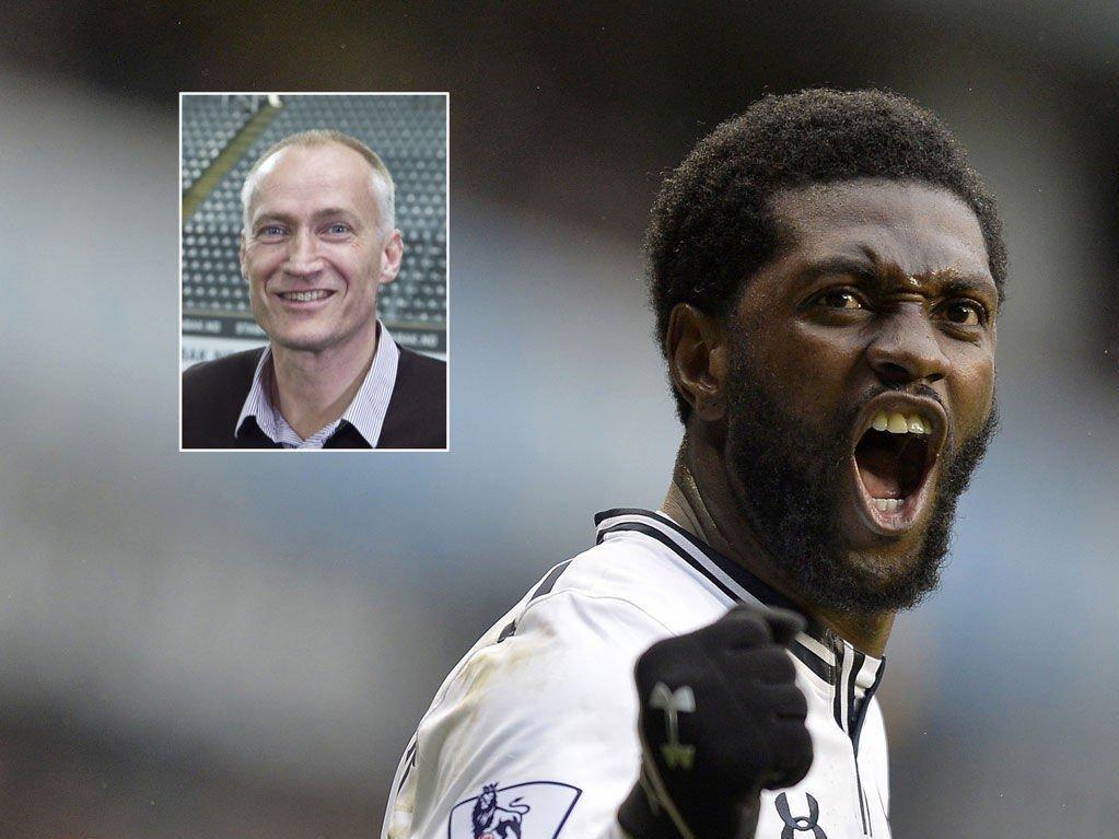 - INGEN LANGSIKTIG LØSNING: Erik Thorstvedt er krystallklar på at Emmanuel Adebayor ikke bør regnes som en langsiktig løsning for Tottenham.