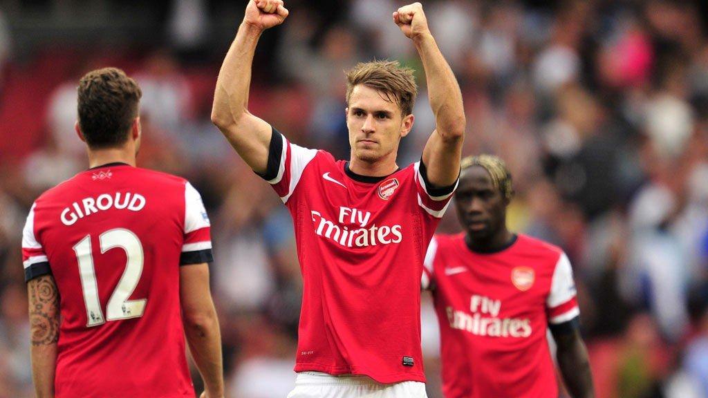 NÆRMER SEG SKADECOMEBACK: Aaron Ramsey håper å være tilbake når Arsenal gjester Tottenham på White Hart Lane 16. mars.