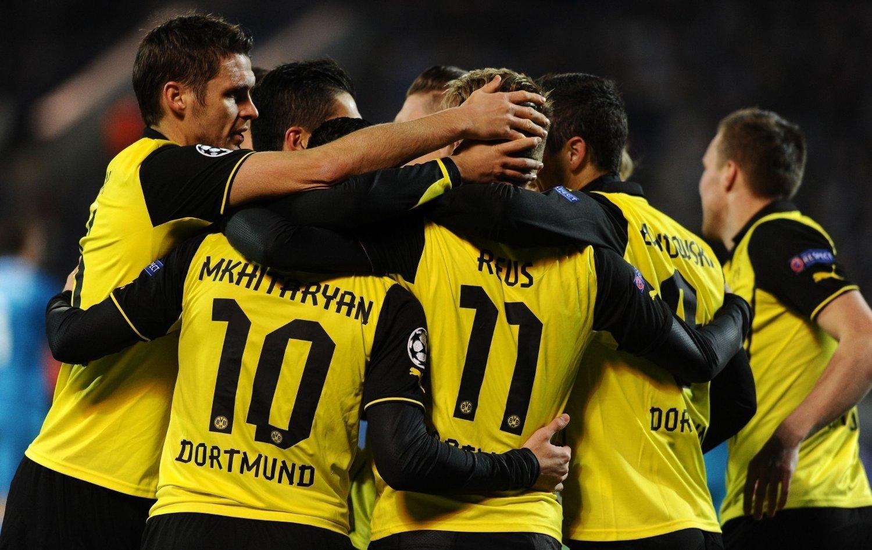 NÆR KVARTFINALE: Fjorårets mesterligafinalister, Borussia Dortmund, tok et langt steg mot kvartfinalen i årets turnering med 4-2-seieren over Zenit St. Petersburg.
