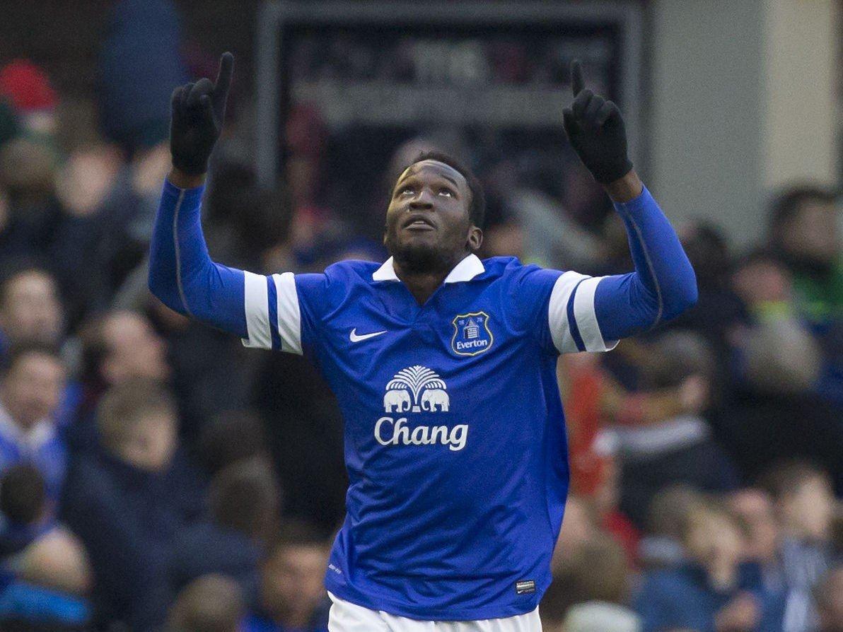 AVGJORDE: Evertons Romelu Lukaku kunne juble for seiersmålet mot West Ham.