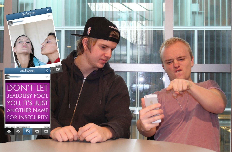 96ef6da8 Anders Kveli og Ludvik Lund vet hva slags bilder de IKKE liker å se fra  jentene