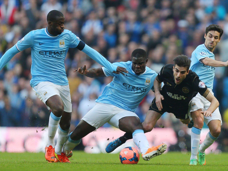 TIL WEMBLEY: Jordi Gómez og Wigan er klare for Wembley etter å ha slått ut Manchester City av FA-cupen.
