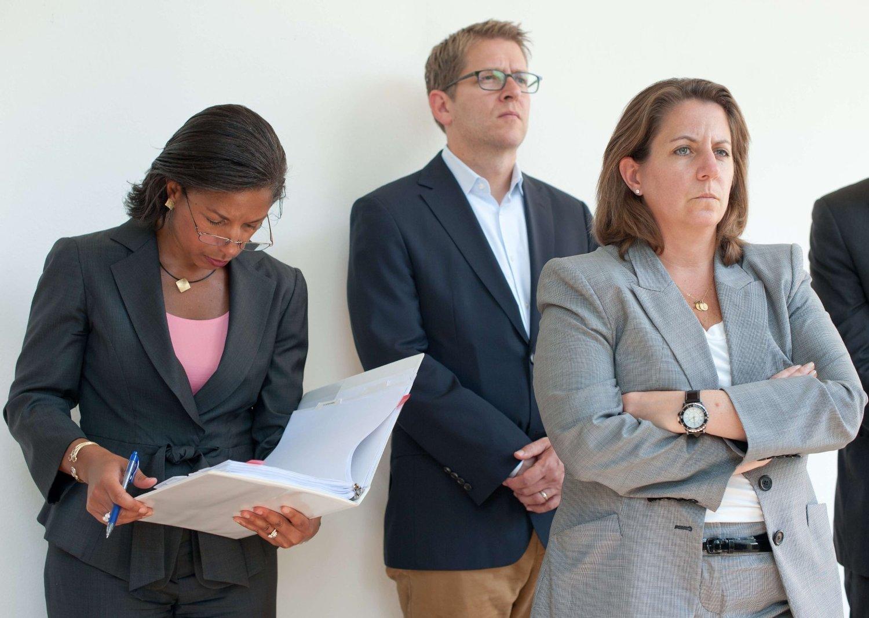 GIKK GLIPP AV MØTE: Statoil-sjef Helge Lund skulle møte Obamas antiterrorsjef Lisa Monaco (til høyre på bildet).