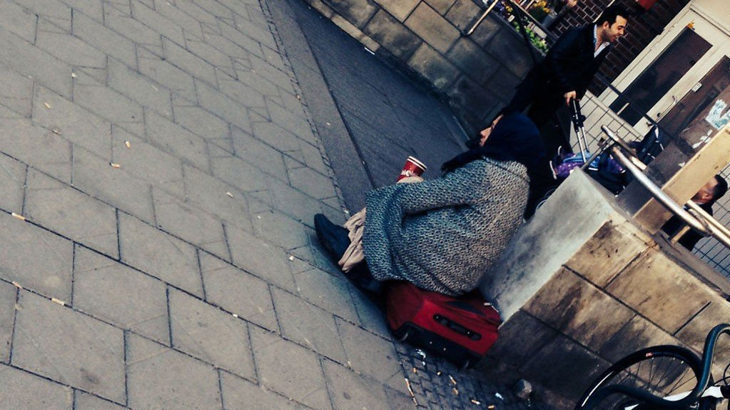 GRØNLAND: I denne bydelen i Oslo er tigging vanlig. Foto: Heidi Schei Lilleås/Mediehuset Nettavisen