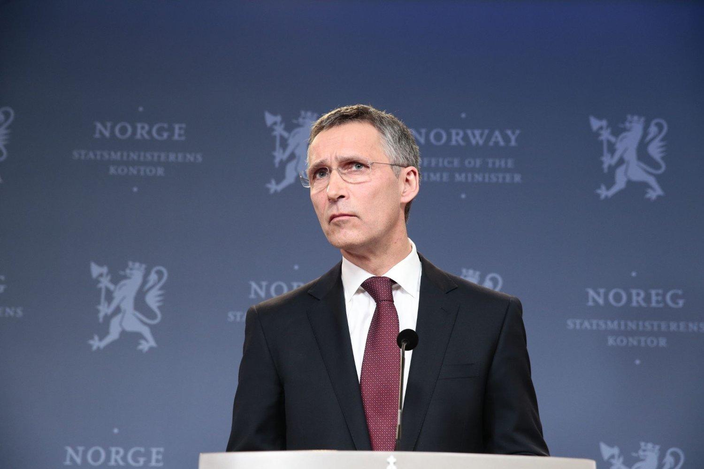 Tidligere statsminister, nå påtroppende generalsekretær i NATO, Jens Stoltenberg, møtte pressen i statsministerens representasjonsbolig i Oslo fredag ettermiddag.