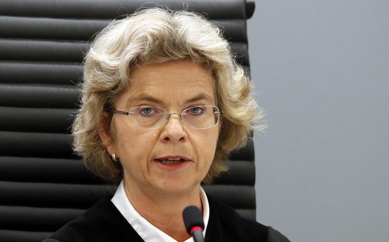 Dommer Wenche Elizabeth Arntzen under domsavsigelsen i 22. juli-rettssaken. Nå har hun søkt ny jobb.