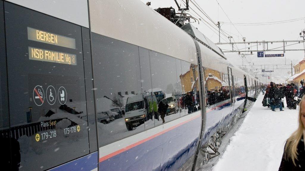 ANTASTET: Kvinnen ble antastet på toget mellom Oslo og Bergen. Illustrasjonsfoto av tog på Bergensbanen.