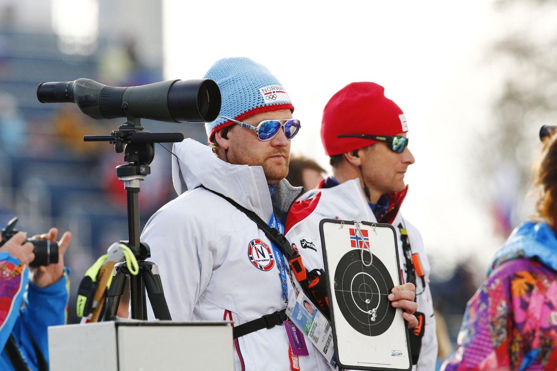 NY JOBB: Geir Ole Steinslett, her sammen med Egil Gjelland, blir ny assistenttrener for skiskyttergutta.