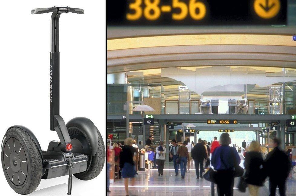 Ansatte ved Oslo lufthavn kan få slippe å gå så langt som i dag. Flyplassen har nemlig fått lov til teste bruk av Segway.