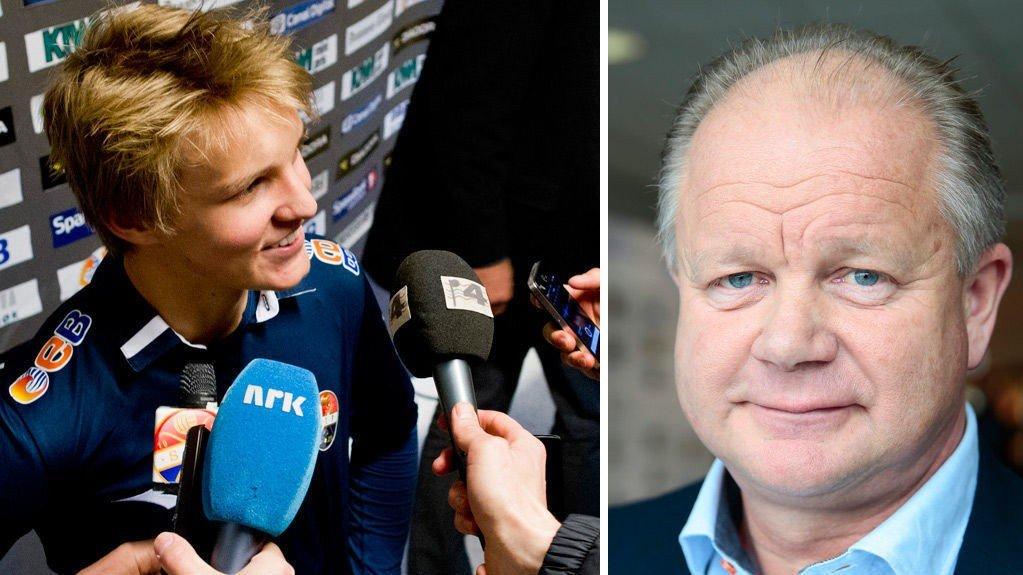 IMPONERT: Per-Mathias Høgmo er imponert over Martin Ødegaard, men tror likevel at det er for tidlig å hente 15-åringen inn på landslaget.