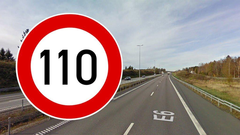 Statens vegvesen anbefaler at nesten hele E6 gjennom Østfold skal få høyere fartsgrense.