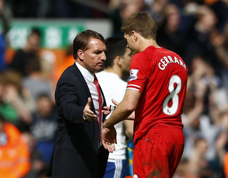 NY AVTALE: Brendan Rodgers sier Liverpool vil gi Steven Gerrard en ny kontrakt.