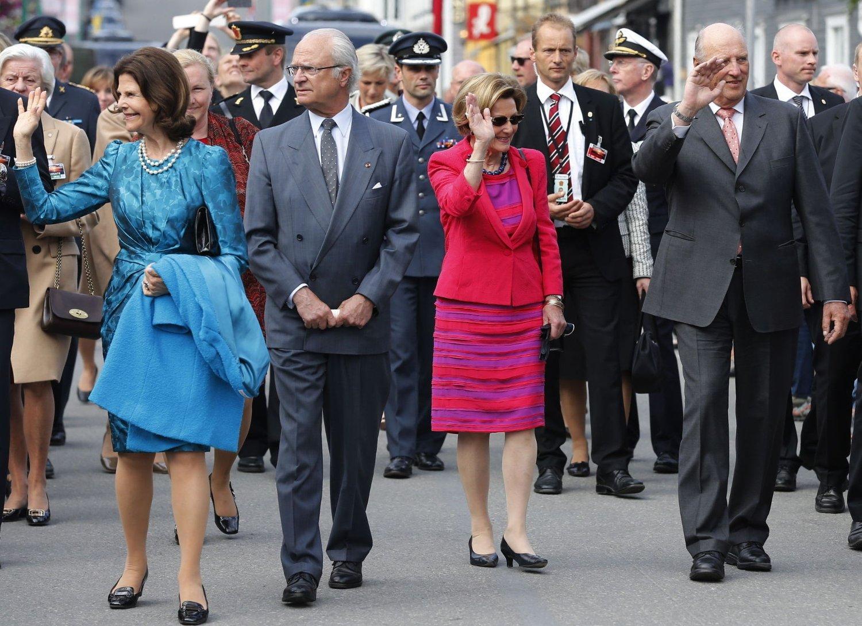 KONTROLL: Når det norske kongeparet får besøk fra sine svenske og danske kongelige venner 17. mai mener politiet at sikkerheten er på plass. Foto: Cornelius Poppe / NTB scanpix