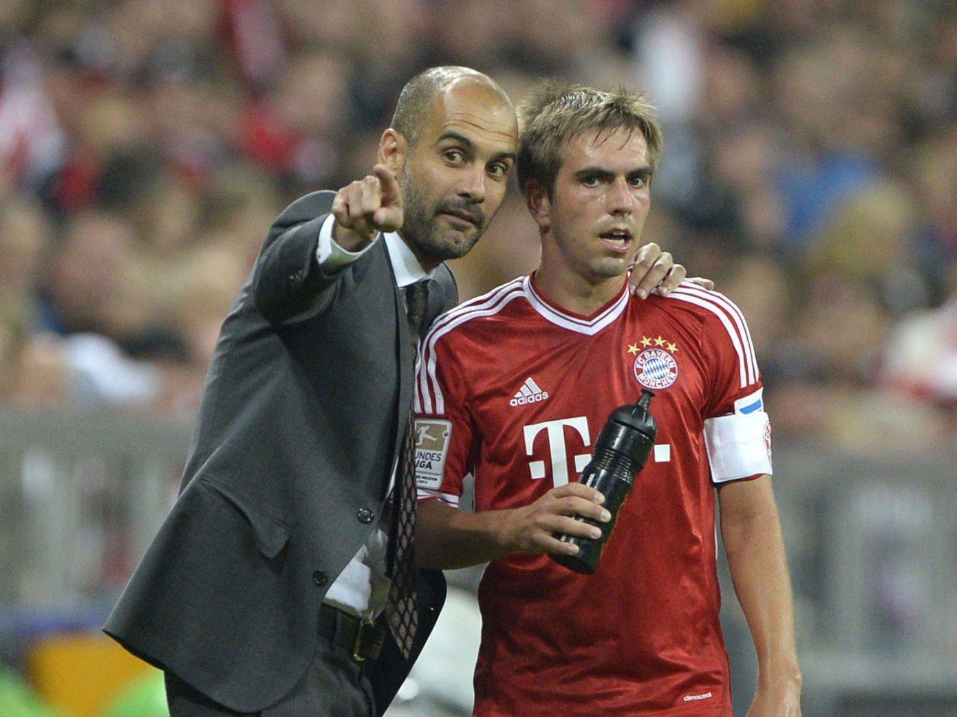 STØTTE: Philipp Lahm støtter Pep Guardiolas spillesystem.