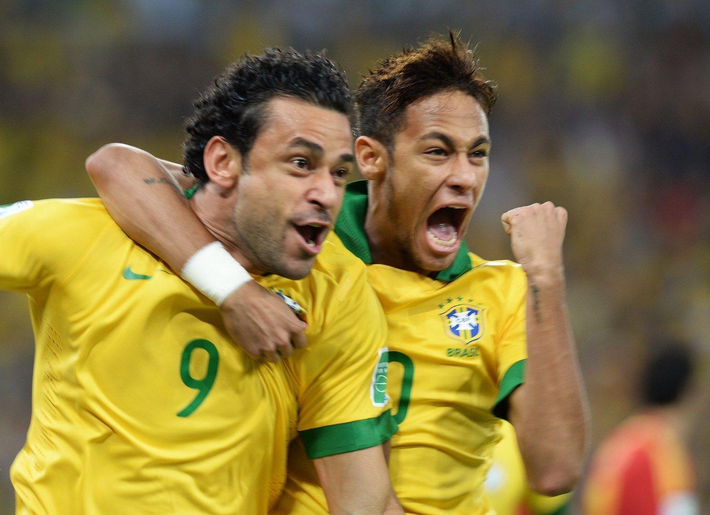 VM-KLARE: Neymar og Fred er tatt ut i VM-troppen til Brasil.