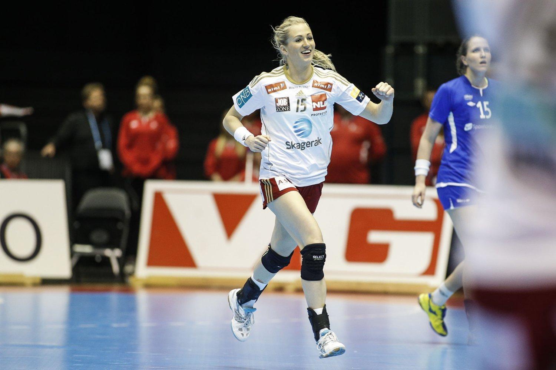 VANT: Linn Jørum Sulland ble Larviks toppscorer med åtte mål mot Byåsen.