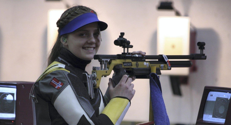 TREFFSIKKER: Jenny Vatne taklet presset i Latvia og sikret Norge finaleplass i Serbia.Foto: privat