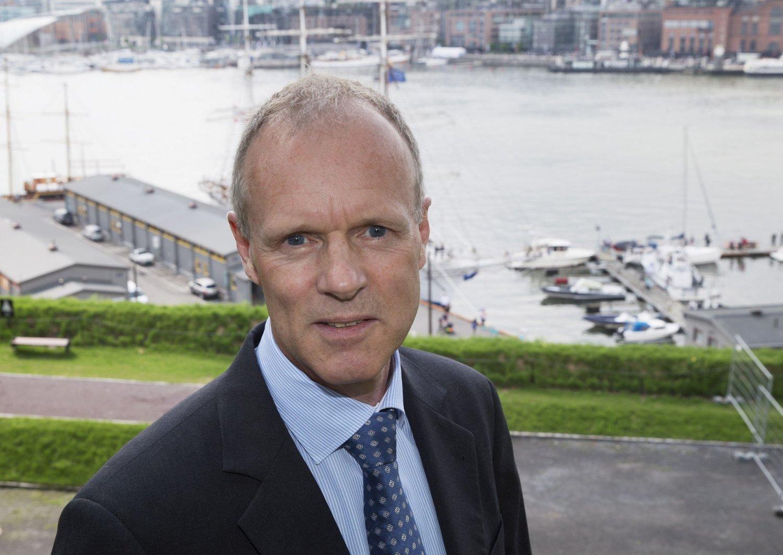 Sturla Henriksen, administrerende direktør i Norges Rederiforbund, skroter Vladmir Putin.