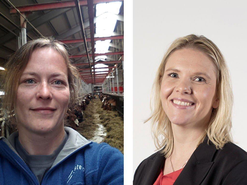 BARNDOMSVENNER: Melkebonde Lisa Sjåstad og landbruksminister Sylvi Listhaug er sambygdinger og tidligere naboer. Nå står de på hver sin side i striden om jordbruksoppgjøret.