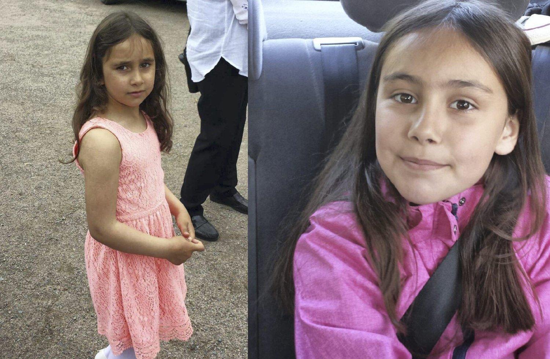 BORTFØRT: Rajana (6) og Somaja (8) ble bortført på Masterudveien utenfor Kongsvinger 10. juni.