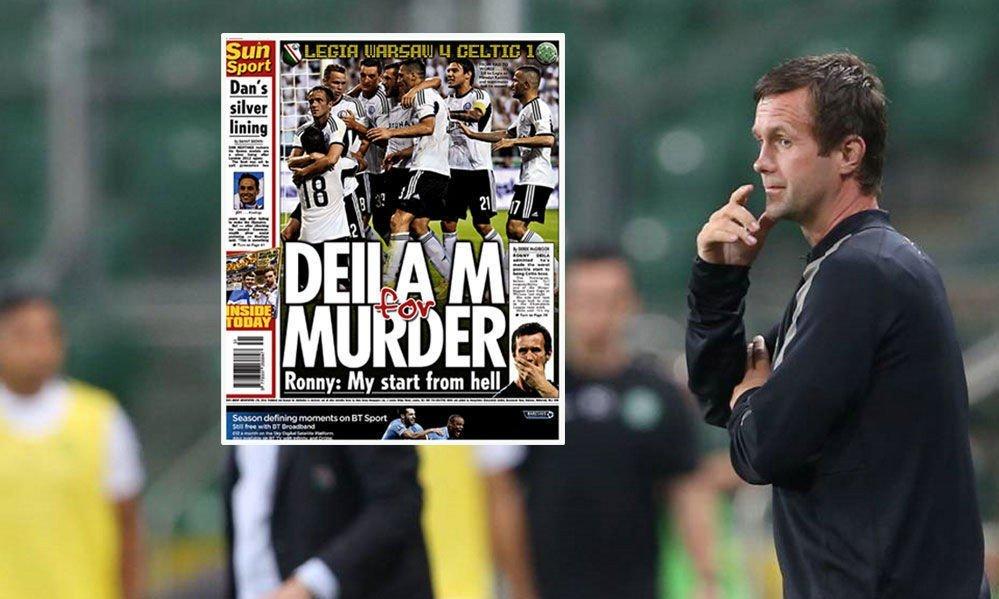 «DEILA M FOR MURDER»: Den skotske utgaven av The Sun brukte et kreativt ordspill på sitt oppslag.