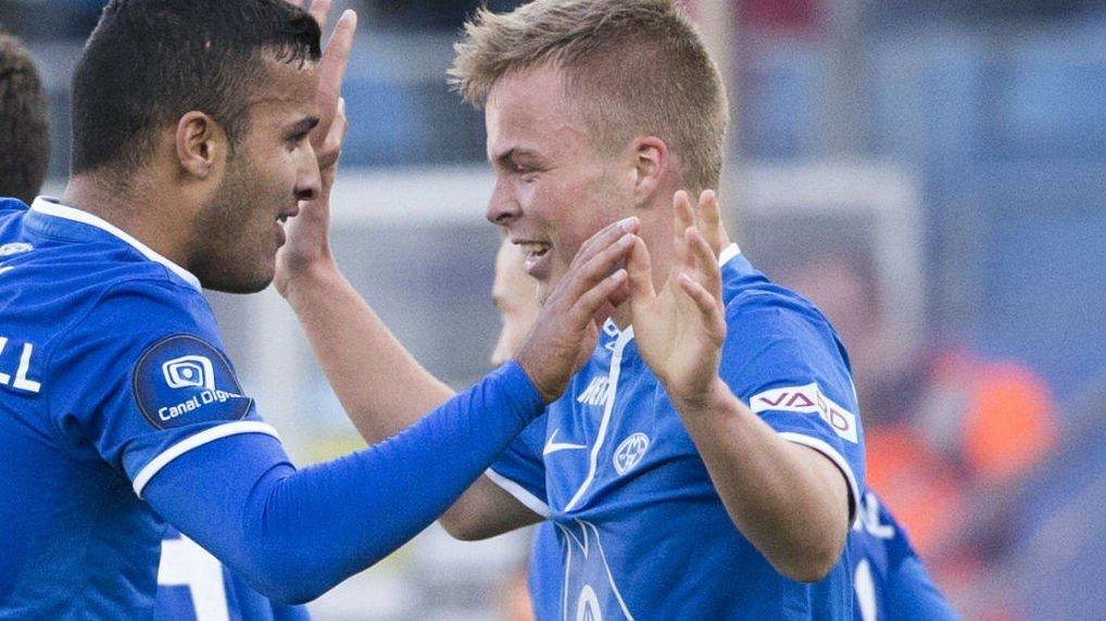 HELT: Sander Svendsen (16) kunne spilt Norway Cup. Torsdag scoret han i Europa.