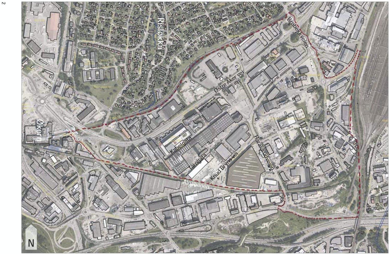 DEL AV BYEN: Planprogrammet for dette området på Haraldrud er nå ute på høring. Illustrasjon: PBE