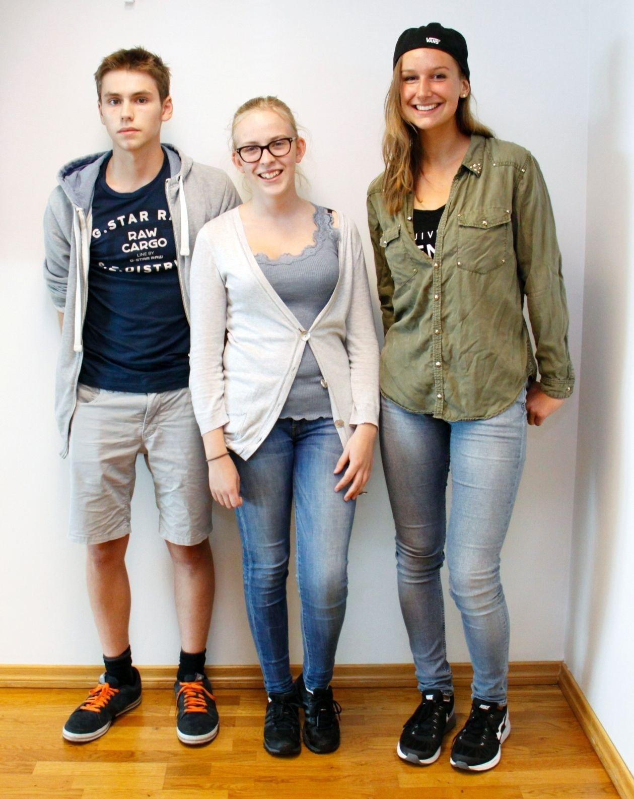 OSLOS BESTE: Simon Ingebrigt Golombek (Elvebakken), Johanna Ulvedal Marstrander (Foss) og Maria Isabel Bang Jensen (Ullern) gleder seg til Danmarkstur og talentcamp.