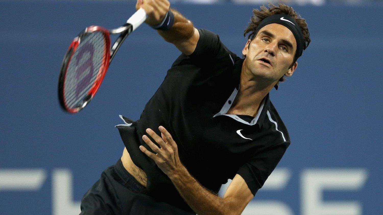 VIDERE: Roger Federer er klar for kvartfinalen av US Open.