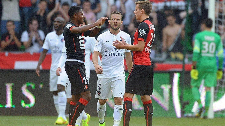 FORNØYD: Steven Moreira og Anders Konradsen jubler for ett poeng mot Paris Saint-Germain.
