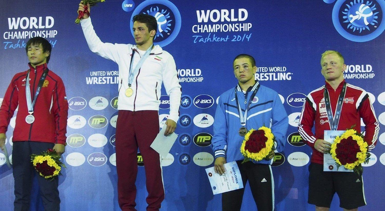 STOLT: Stig-André Berge tok norges første medalje i et VM siden 1991.Foto: Ove Gundersen