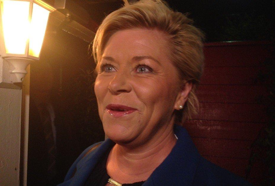 SPENT OG SKJERPET: En milepæl i Siv Jensens politiske liv - fremleggelsen av hennes eget statsbudsjett.