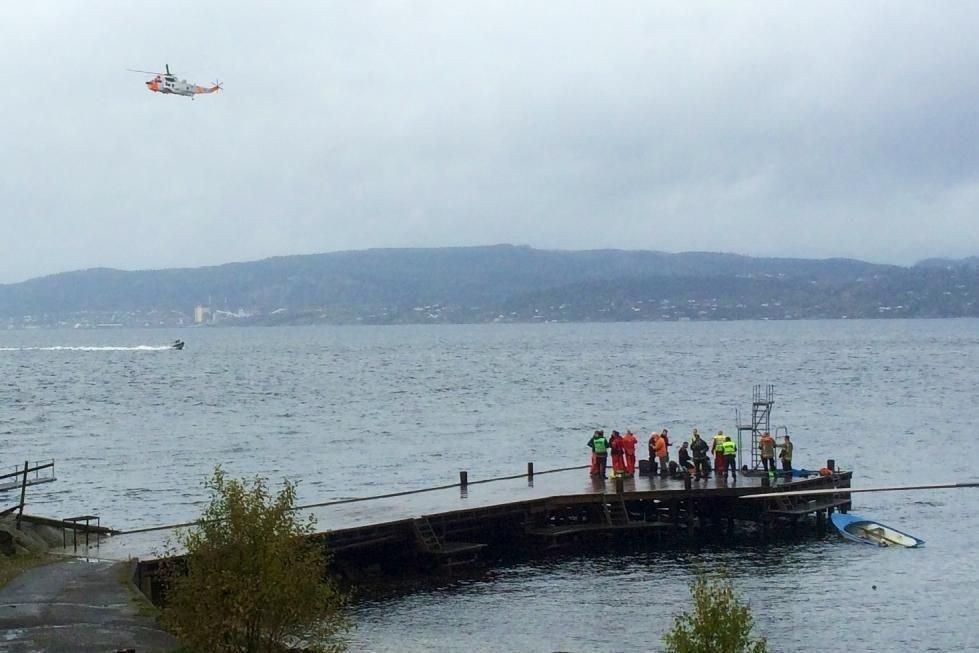 Ulykken har skjedd i sjøen rett utenfor KJøvangen brygge i Son.