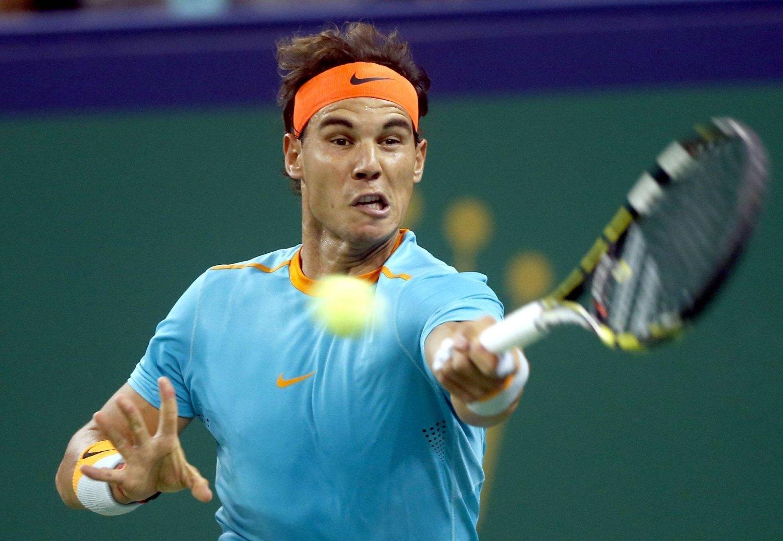 SPILLER MED SYKDOM: Rafael Nadal er rammet av blindtarmbetennelse, men planlegger likevel å fullføre sesongen før han opererer.