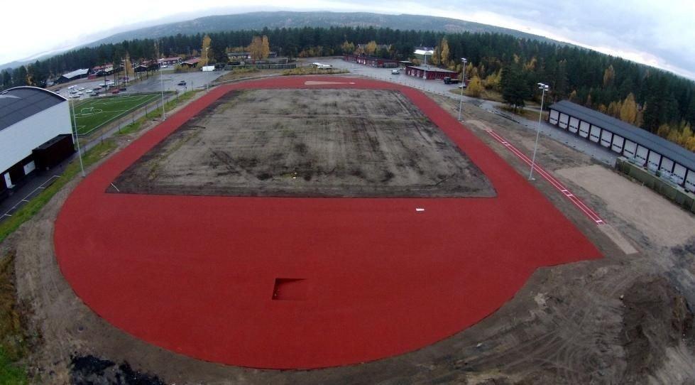 Friidrettsbanen ved Terningen Arena skulle vært 400 meter. En kontrollmåling viser at den er sju meter for kort.