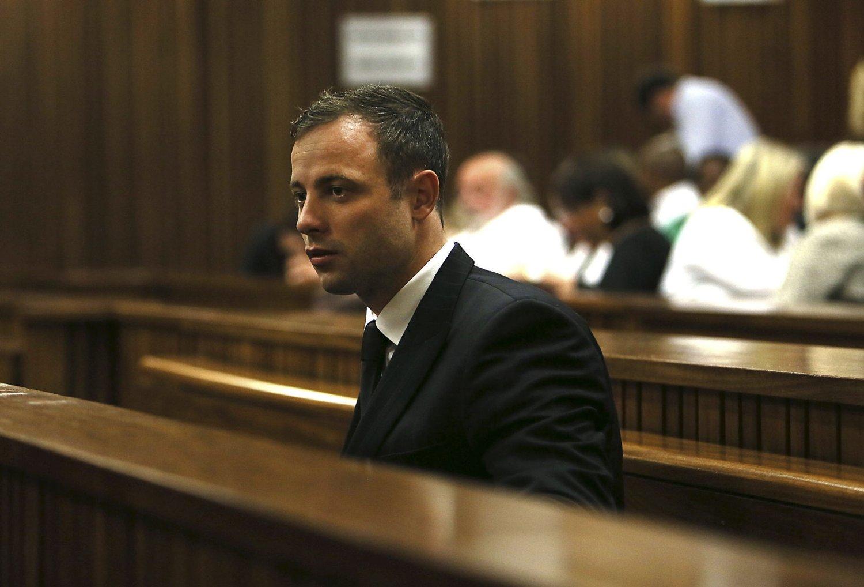 SKYLDIG: Friidrettsstjernen Oscar Pistorius ble dømt til fem års fengsel for uaktsomt drap på kjæresten.