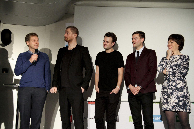 LAGER NRK-PARODI: Espen Eckbo, Odd-Magnus Williamson, Kevin Vågenes, Henrik Thodesen og Lene Kongsvik Johansen har latt seg inspirere av «Norge rundt»