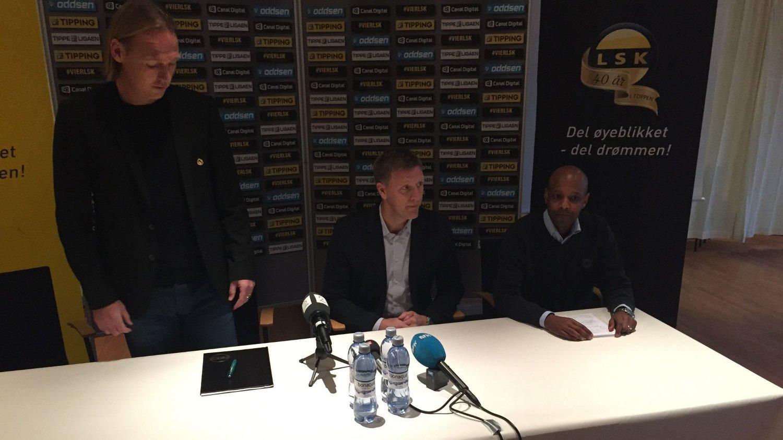 NY JOBB: Runar Kristinsson ble presentert som ny LSK-trener torsdag.