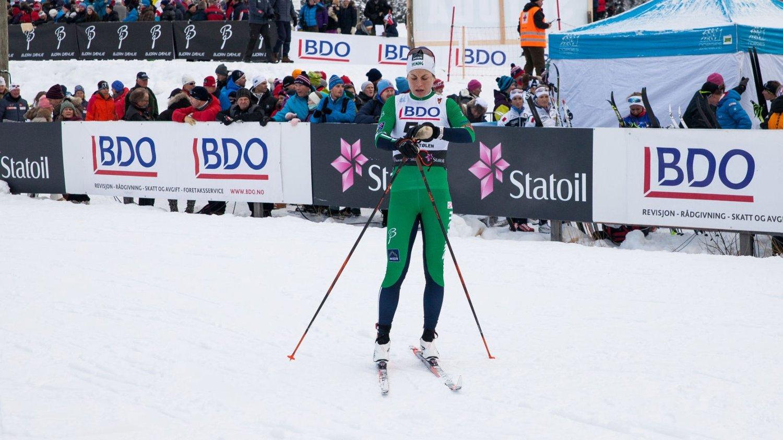 SLITEN: Astrid Uhrenholdt Jacobsen slet under fredagens 15-kilometer på Beitostølen.