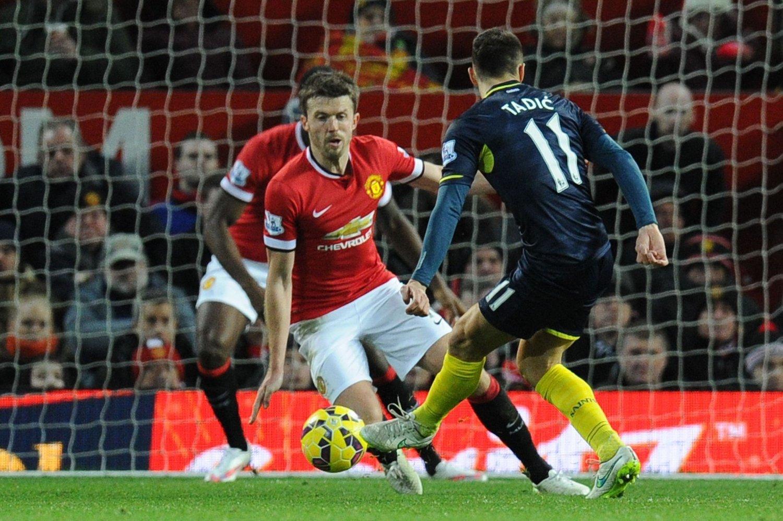 AVGJORDE: Innbytter Dusan Tadic satte inn kampens eneste scoring mot et Manchester United som ikke klarte å produsere en eneste avslutning på mål.