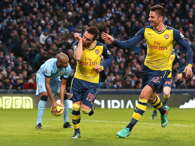 STRAFFEMÅL: Da Santi Cazorla sendte Arsenal foran fra krittmerket, endret kampen seg, mener Manuel Pellegrini.