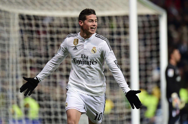 SKADET: Real Madrid-stjernen James Rodriguez.