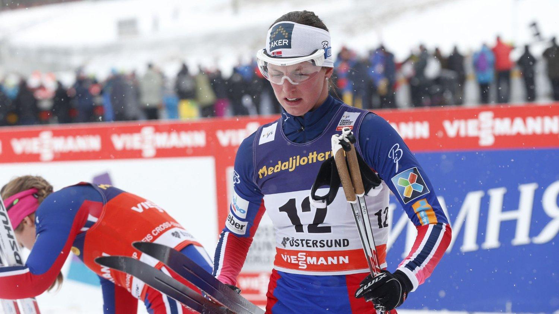 VANT: Kari Vikhagen Gjeitnes etter prologen i Östersund lørdag formiddag.