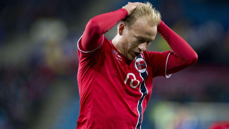 SKADET: Håvard Nielsen må trolig ta det rolig et par uker etter å ha slitt med muskelsmerter i låret den siste tiden.