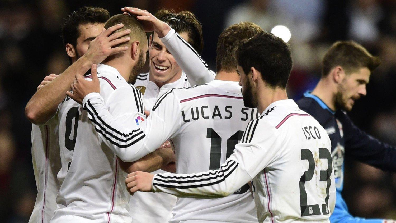 SIKRET SEIER: Real Madrid-spillerne reiste seg etter det pinlige 4-0-tapet for byrival Atlético Madrid forrige helg.