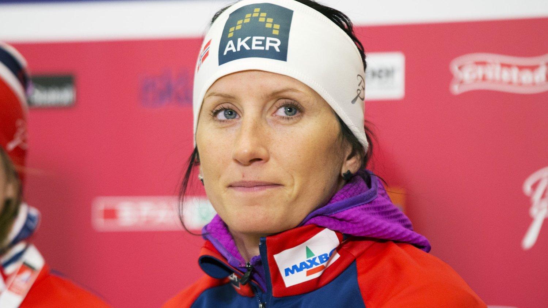 I FORM? Marit Bjørgen måtte svare på mange spørsmål om formen på mandagens pressekonferanse i Falun.