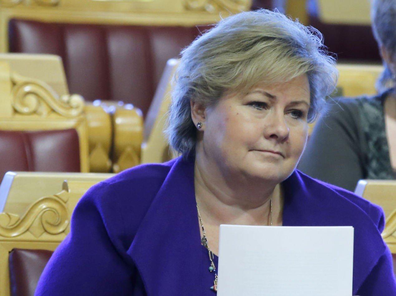 Statsminister Erna Solberg har solid oppslutning blant Krfs tillitsvalgte.