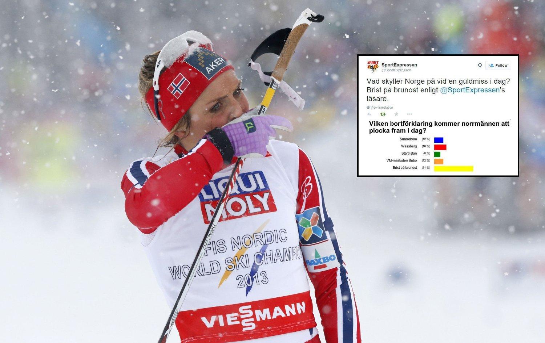 MOBBES: Therese Johaug og alle andre nordmenn mobbes i svenske aviser.